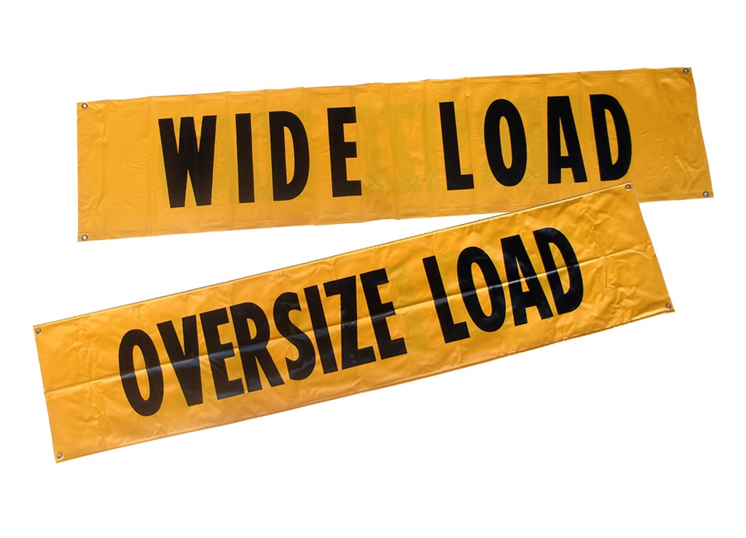 One Pack Llc Wide Load Oversized Load Truck Banner 84 Quot X