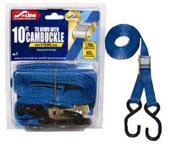 "1"" X 10' Cambuckle Strap w/ S-Hook (4 Pack)"